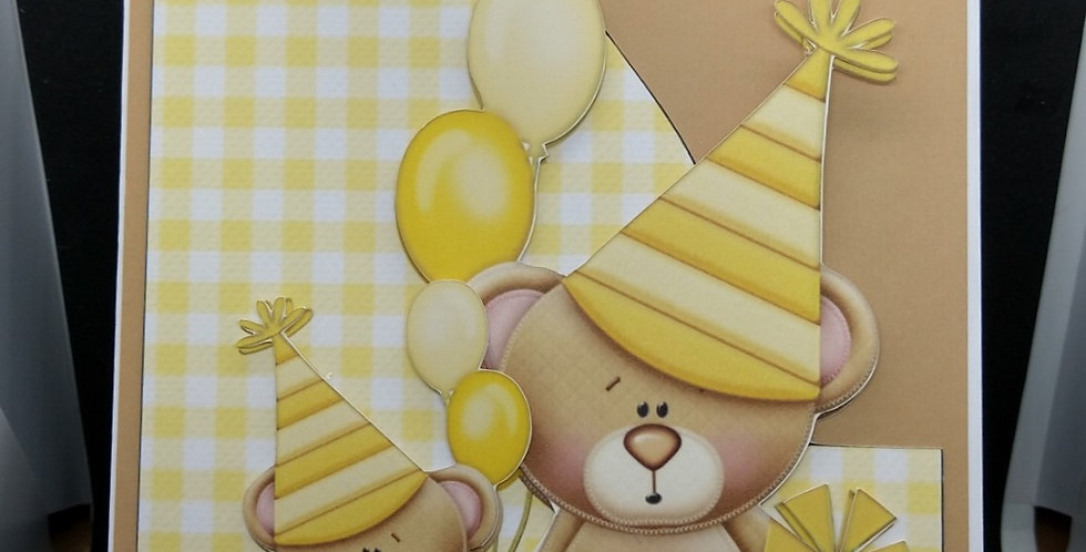Party Bears Children's A5 Birthday Card