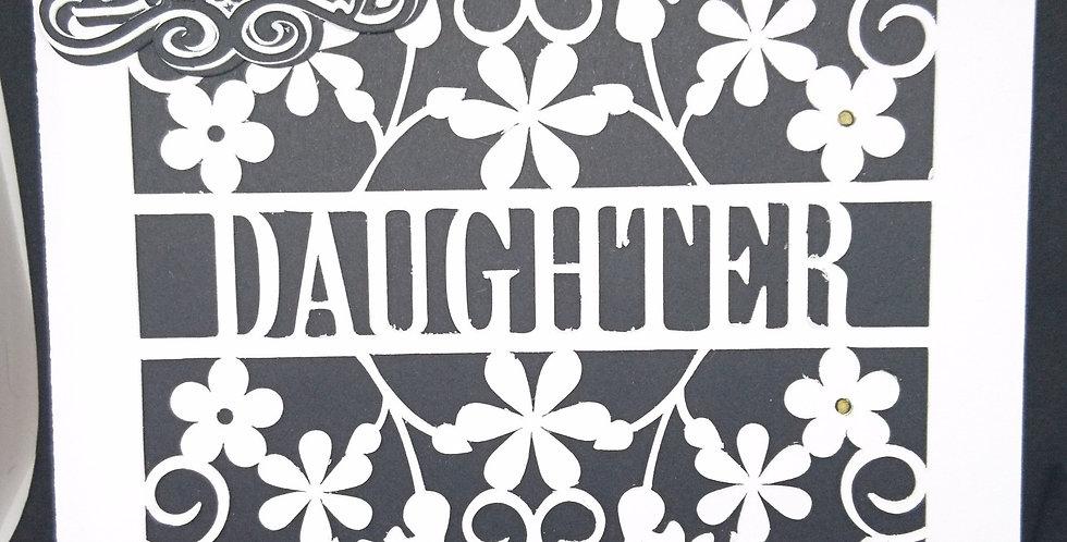 Daughter Cutout 6x6 card