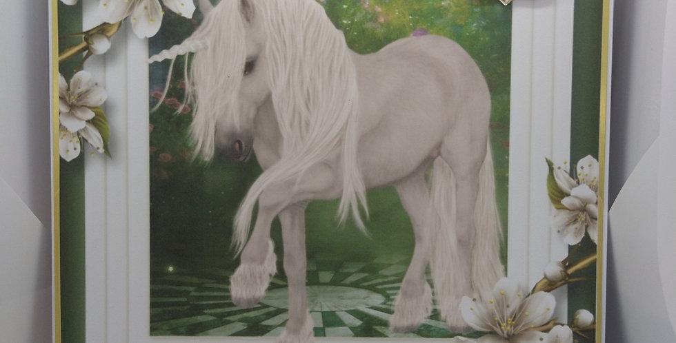 Magical Day Unicorn 8x8 Birthday Card