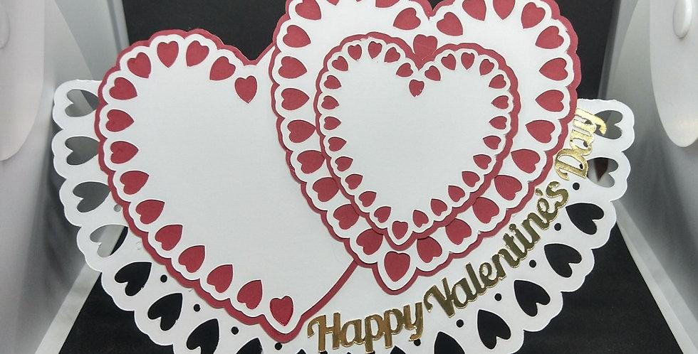 Fancy Hearts Valentines Rocker card