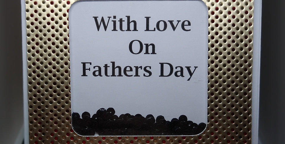 A5 Shaker Card  For Fathers Day (White)