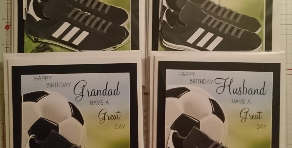 5x7 Footie Male Birthday Card Various Recipients