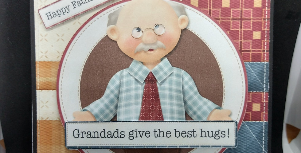 6x6 Fathers Day Card The Best Hugs