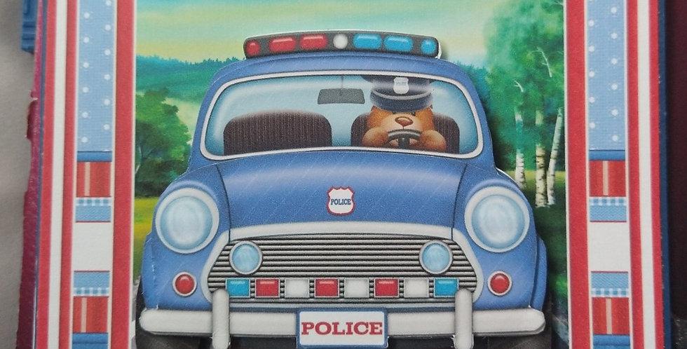 Very Special Son Police Car Birthday Card