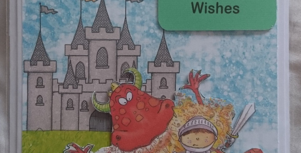 Boys 5x7 Birthday Card Little Knight