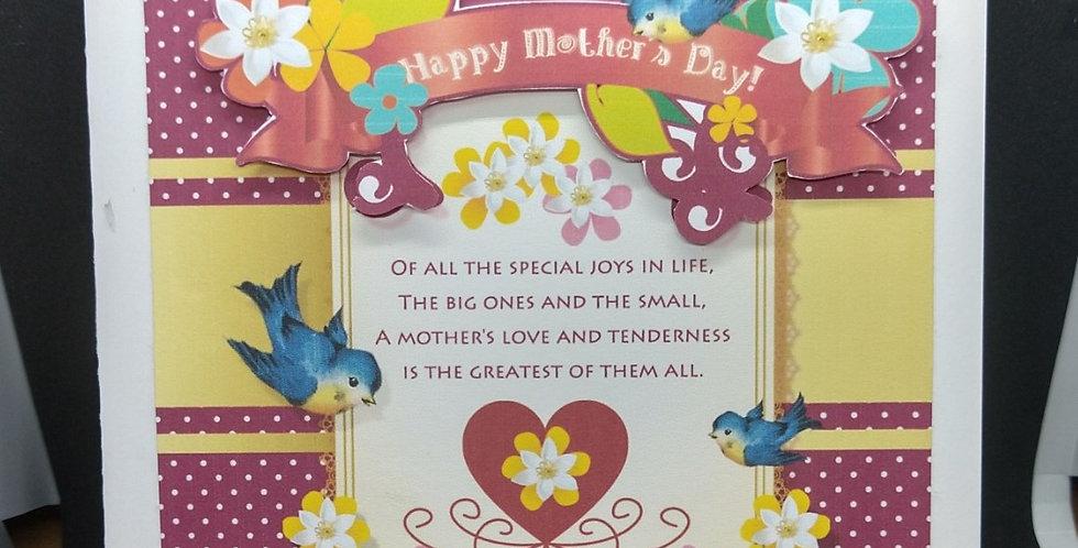 Mothers Day 'Joy' 6x6 Card