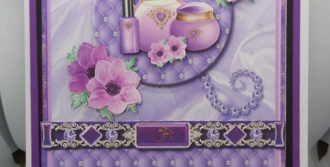 Quilted Satin Purple A5 Birthday Card
