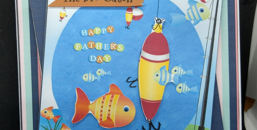 6x6 The Big Catch Fathers Day Card