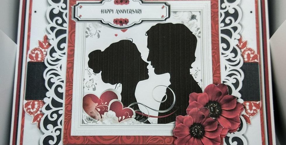 Loving Looks Silhouette 8x8 Anniversary Card