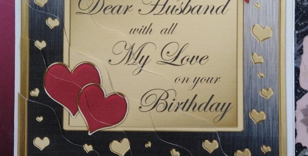 A5 Dear Husband Birthday Card
