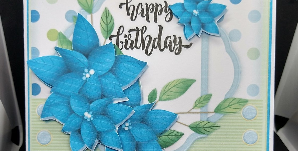 Beautiful Blue Flowers 6x6 Card