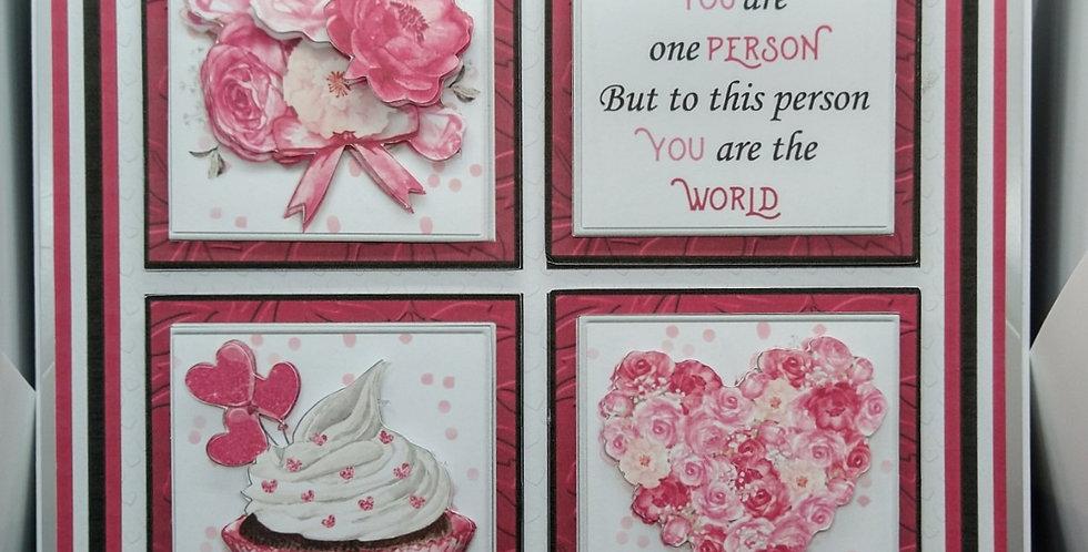 'To The World' 8x8 Birthday Card