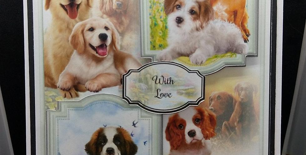 'Faithful Friends' A5 Birthday Card Style 1.