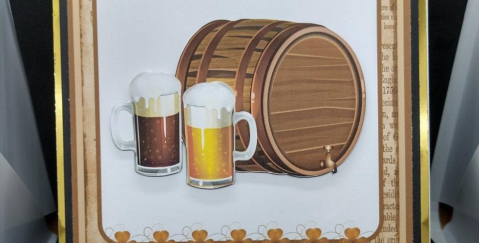 Beer Barrel Male Birthday Card