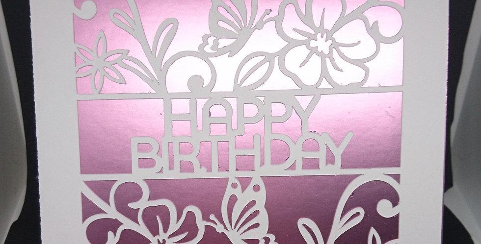 Happy Birthday Cutout 6x6 Card