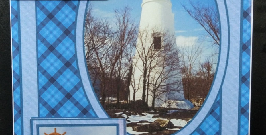 5x7 Lighthouse Fathers Day Card