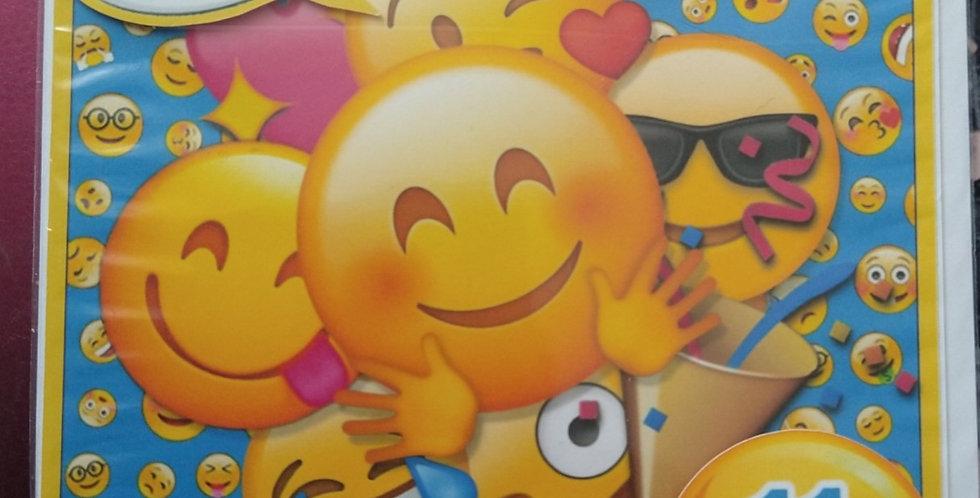 Emoji 11 today 6x6 Birthday Card