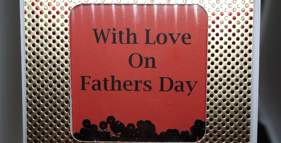 A5 Shaker Card  For Fathers Day