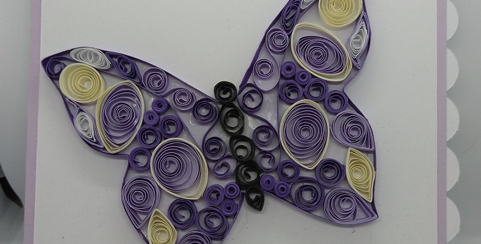 Quilled Butterfly 6x6 Birthday Card