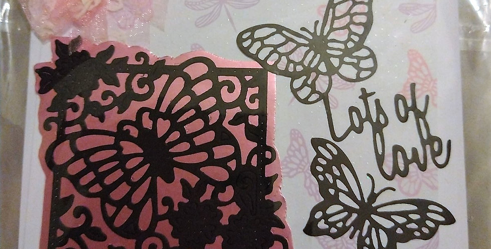 Butterflies Lots Of Love Nan Birthday Card 6x6