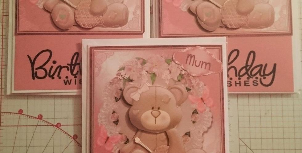 Birthday Wishes 3d Teddy Bear Birthday card