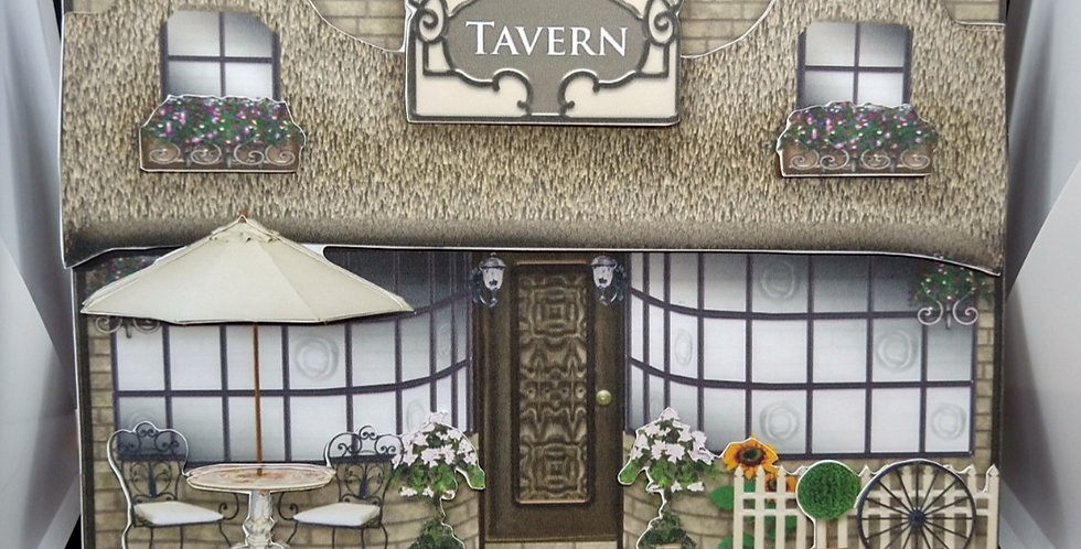 8x8 Thatched Tavern Triangle Base Fathers Day Card