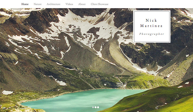 Reise og dokumentar website templates – Bilderekke for fotografier
