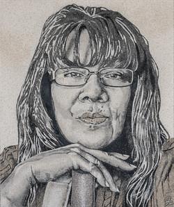 Margaret Papillon réalisé en sables naturels