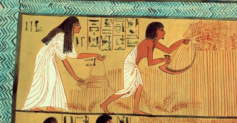 Facsimile of a painting in an Egyptian tomb from 1295-1213 B.C