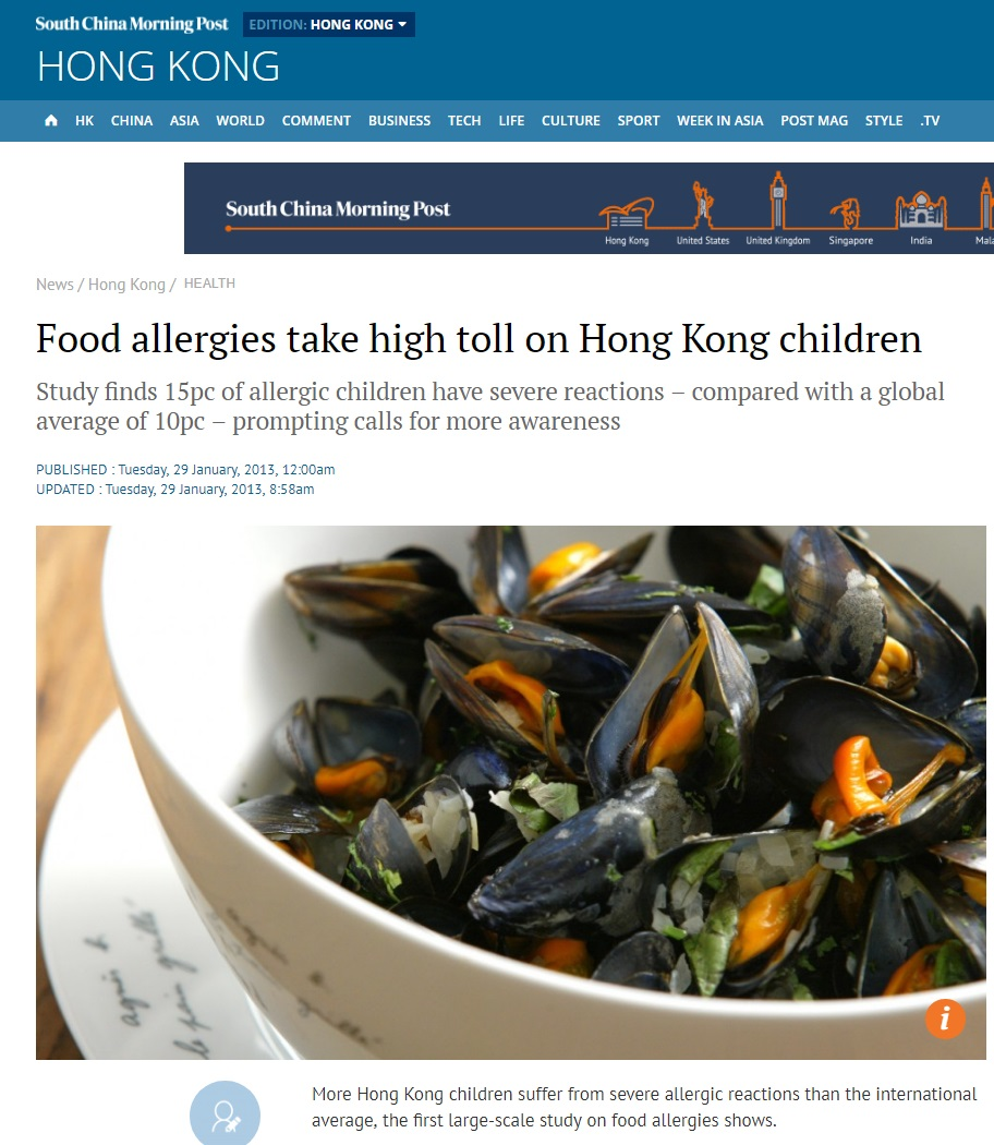 Food allergies take high toll on HK