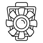 car-motor-ventilator-icon-outline-style-