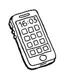 Handy-Ausmalbilder-Malvorlagen-Zeichnung