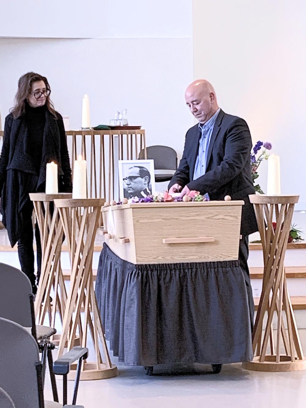 ceremonie bij een uitvaart