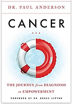 Front page of book Cancer image of life raft floating in water
