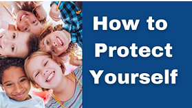 Diverse Children's faces How to protect yourself