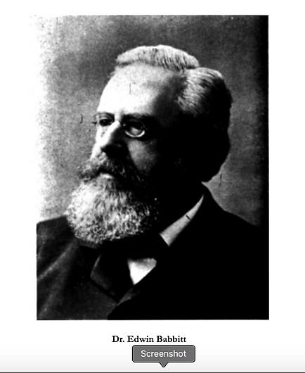 Dr Edwin Babbitt