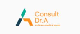 Consult Dr. A. logo orange teal blue