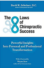 Book_The Laws of Chiropractic Success Blue and White book cover