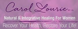 Carol Lourie signature logo purple