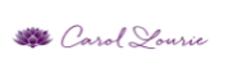 Carol Lourie Logo purple lotus flower and signature