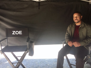 On the set of Zoé, Montreal.