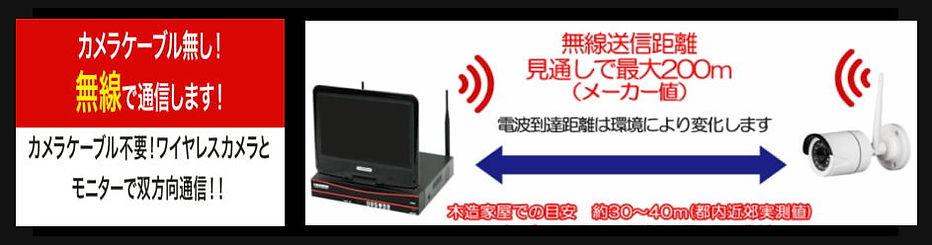 防犯カメラのケーブル不要!ワイヤレスカメラとモニターで双方向通信