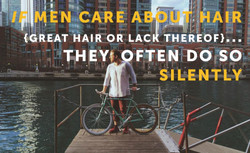 If men care about hair, they often do so silently