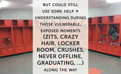 Let's take puberty more seriously, starting with the locker room