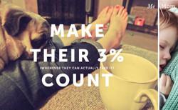 Make moms' 3% count