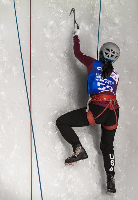 Angela Tomczik (USA), 2019 UIAA Ice Climbing World Cup, Denver, USA, Feb 23-24, 2019