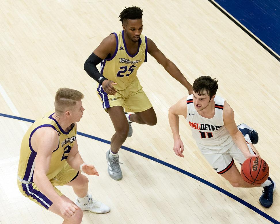 Photos of MSU Denver Men's Basketball vesus Westminster College,