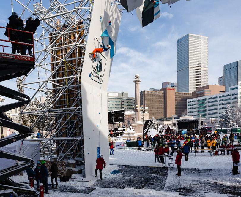 Alexey Dengin (RUS), 2019 UIAA Ice Climbing World Cup, Denver, USA, Feb 23-24, 2019, Denver, Colo.