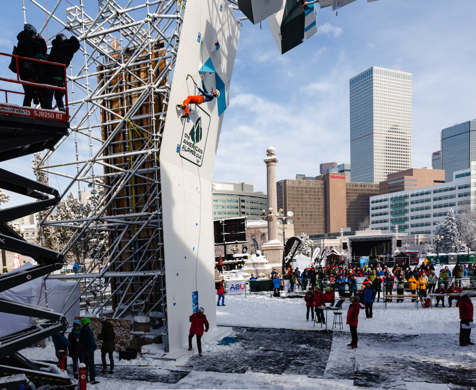 Alexey Dengin (RUS), 2019 UIAA Ice Climbing World Cup, Denver, USA, Feb 23-24, 2019, Denver, Colo.