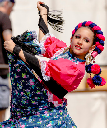 Mexican Dancer at Cinco de Mayo, Denver, Colo., 2019